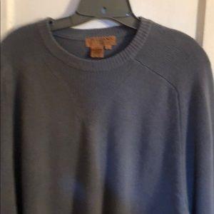 Sweaters - TULLIANO  MEN CASHMERE LARGE VTG GRAY SWEATER